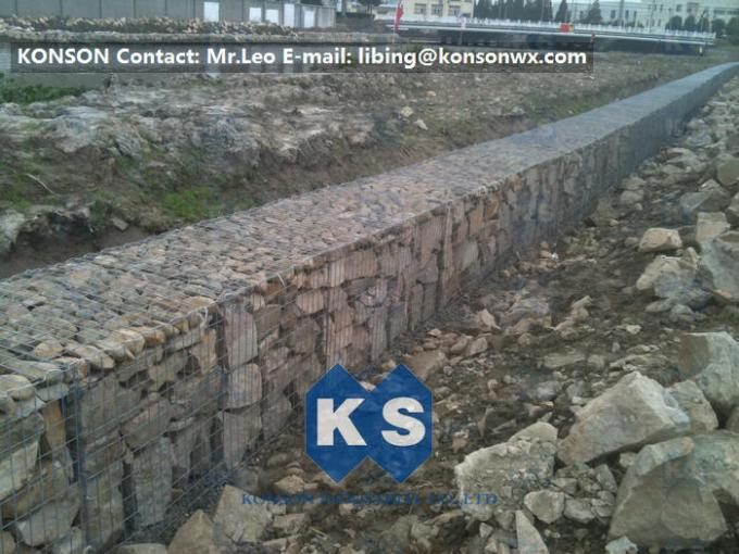 Professional Welded Wire Mesh Gabion Box Galfan Galvanised 75mm x 75mm Gabion Fence
