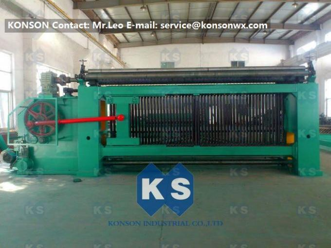 PVC Coated 4.3m Galfan Gabion Wire Mesh Machine / Hexagonal Wire Netting Machine