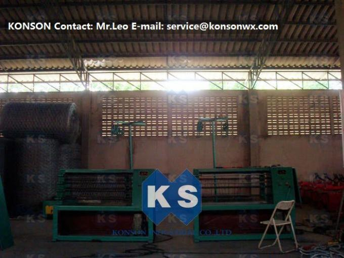 Automatic Gabion Production Line , Durable Gabion Net Welded Wire Mesh Machine