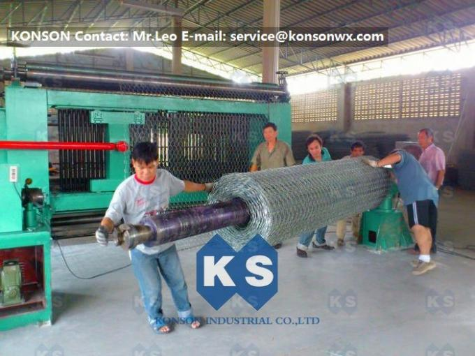 Fully Automatic Hexagonal Mesh Machine Making Straight and Reverse Twisted Wire Mesh