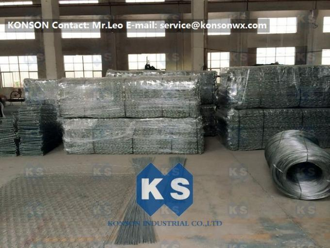 Metal Wire Mesh Gabion Box Stone Cage Retaining Wall 0.5mm - 1.5mm PVC Coating