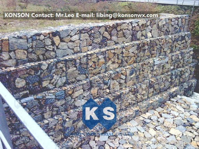 Zinc Coated Stainless Steel Wire Gabion Baskets / Gabion Cages / Gabion Fence