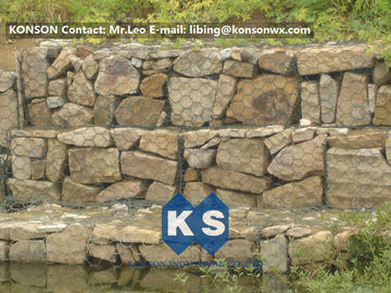 चीन Galvanized / Galfan / PVC Welded Gabion Basket , Gabion Cages for Rock Retaining Wall आपूर्तिकर्ता