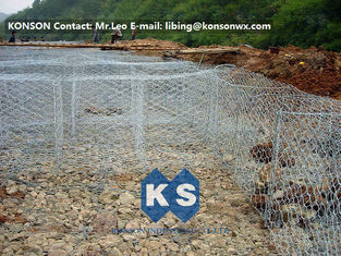 चीन Flexible Steel Wire Mesh Gabion Rock Baskets Mountain Protect Mesh 80mm x 100mm आपूर्तिकर्ता