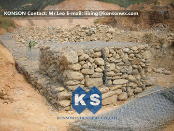 चीन Zinc Wire Coated Hexagonal Wire Mesh Gabion Rock Boxes for Controlling Flood आपूर्तिकर्ता