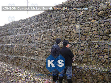 चीन Professional Welded Wire Mesh Gabion Box Galfan Galvanised 75mm x 75mm Gabion Fence आपूर्तिकर्ता