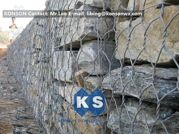 चीन High Strength Hexagonal Wire Mesh Hot-Dip Galvanized Gabion Box Basket Construction आपूर्तिकर्ता