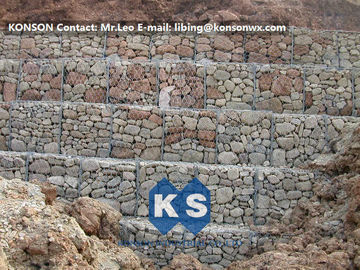 चीन Hexagonal Wire Mesh Gabion Retaining Wall with Polyethylene PE Coated Gabion Wire आपूर्तिकर्ता
