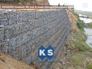 चीन Defense Gabion Retaining Wall Hexagonal Wire Mesh with Galvanized Wire 2.7MM फैक्टरी