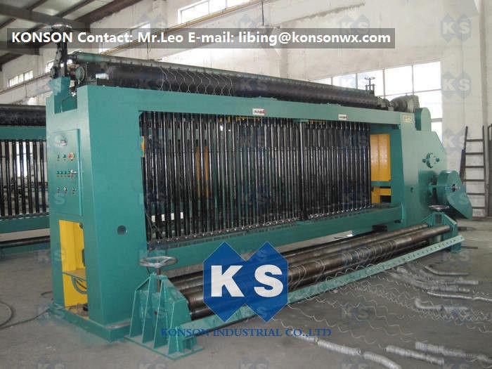 Automatic Gabion Box Hexagonal Wire Netting Machine High Speed 3.5 ...